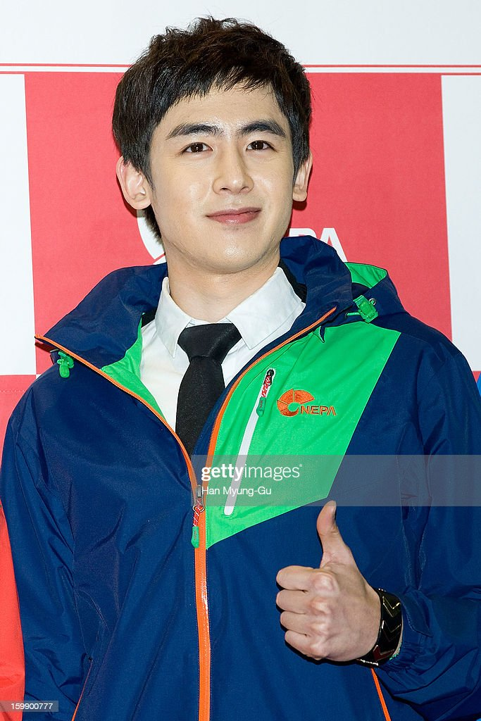 Nichkhun of South Korean boy band 2PM attends a promotional event for the NEPA History Show 2013 'ISENBERG' Launching Show at COEX on January 22, 2013 in Seoul, South Korea.