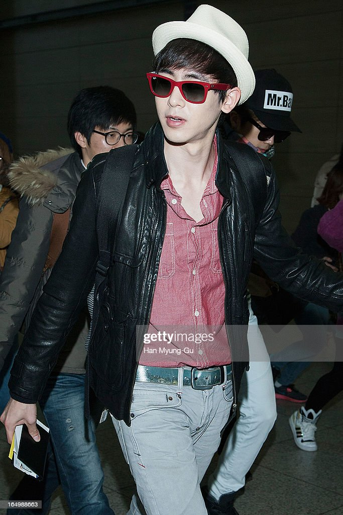 Nichkhun of South Korean boy band 2PM is seen on departure iat Incheon International Airport on March 29, 2013 in Incheon, South Korea.