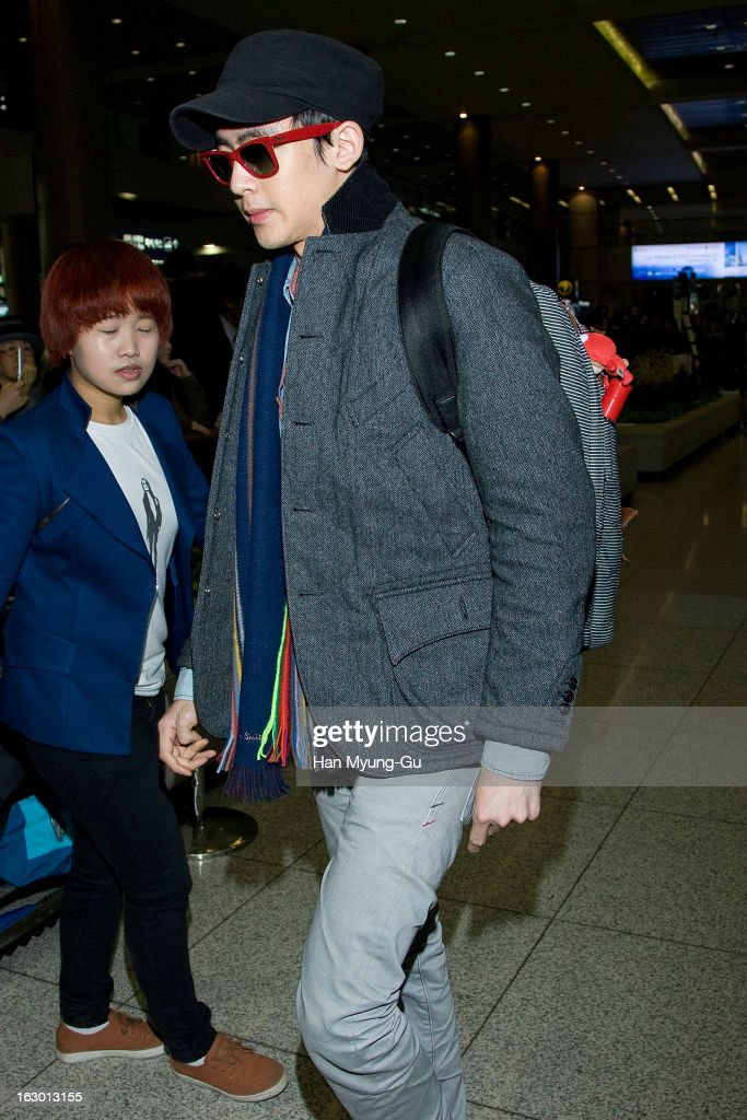 Nichkhun of South Korean boy band 2PM is seen upon arrival from Philippines at Incheon International Airport on March 3, 2013 in Incheon, South Korea.