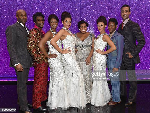 Nicholas Bailey Adam J Bernard Ibinabo Jack Liisi LaFontaine Amber Riley Lily Frazer Tyrone Huntley and Joe Aaron Reid backstage after the press...