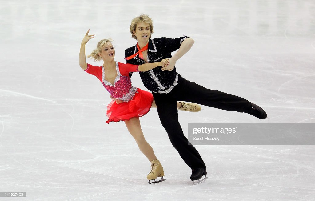 Nicholas Buckland and Penny Coomes of Great Britain in action during day one of the ISU World Figure Skating Championships on March 26, 2012 in Nice, France.
