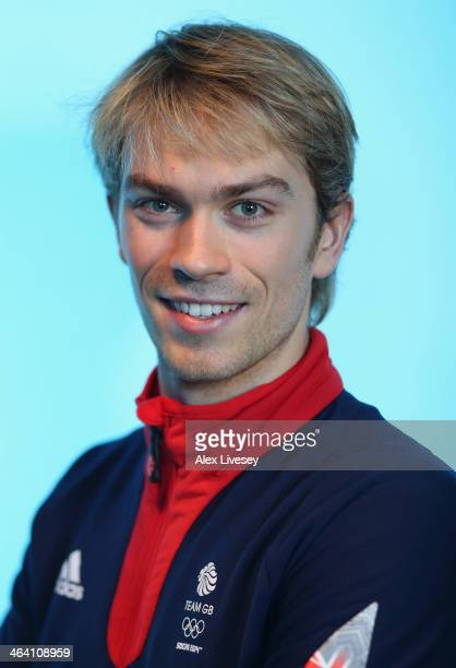 Nicholas Buckland of Team GB Figure Skating poses for a portrait during the kitting out day at adidas on January 20 2014 in Stockport England