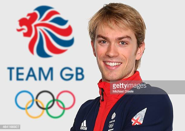 Nicholas Buckland of the Team GB Figure Skating team poses for a portrait during the Team GB Kitting Out on January 20 2014 in Stockport England