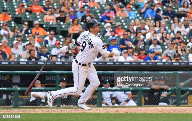 Nicholas Castellanos of the Detroit Tigers bats during the game against the Toronto Blue Jays at Comerica Park on July 16 2017 in Detroit Michigan...
