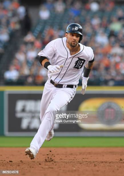 Nicholas Castellanos of the Detroit Tigers runs the bases during the game against the Chicago White Sox at Comerica Park on September 16 2017 in...