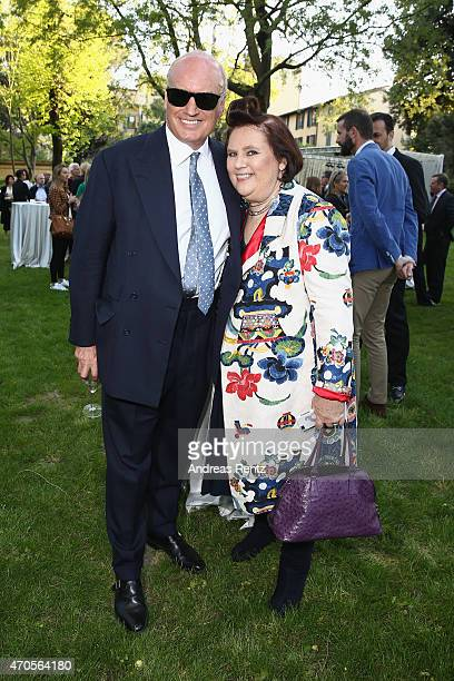 Nicholas Coleridge and Suzy Menkes attend the Conde' Nast International Luxury Conference Welcome Reception at Four Seasons Hotel Firenze on April 21...
