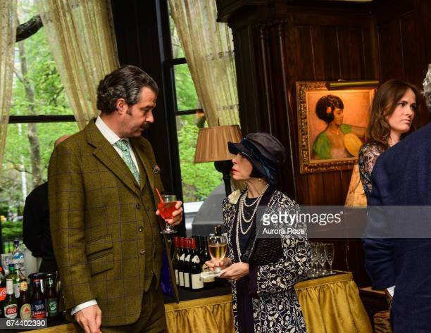 Nicholas D Lowry and Linda Zagaria attend Objekt USACanada celebrates National Arts Club at National Arts Club on April 27 2017 in New York City