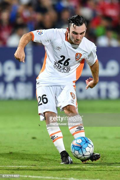 Nicholas D'Agostino Brisbane Roar kicks the ball during the AFC Asian Champions League Group Stage match between Muangthong United and the Brisbane...