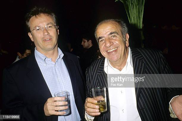 Nicholas Dupont Aignan and Rolland Castro during Jalons 'On Peut Pas Lutter' Party June 26 2006 at Club de L'Etoile in Paris France
