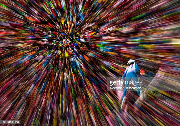 Nicholas Fairall of the USA competes on his first jump on day 6 of the Four Hills Tournament Ski Jumping event at BergiselSchanze on January 4 2015...