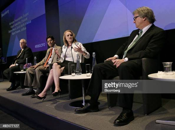 Nicholas Fanandakis chief financial officer of EI DU Pont de Nemours Co from left Dipak Golechha chief financial officer of Chobani LLC Dalynn Hoch...