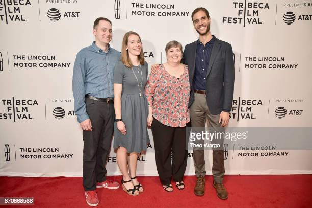 Nicholas Fasullo Joyce Lynn Fasullo Laney Fasullo and Drew Xanthopoulos attend the 'The Sensitives' Premiere during 2017 Tribeca Film Festival at...