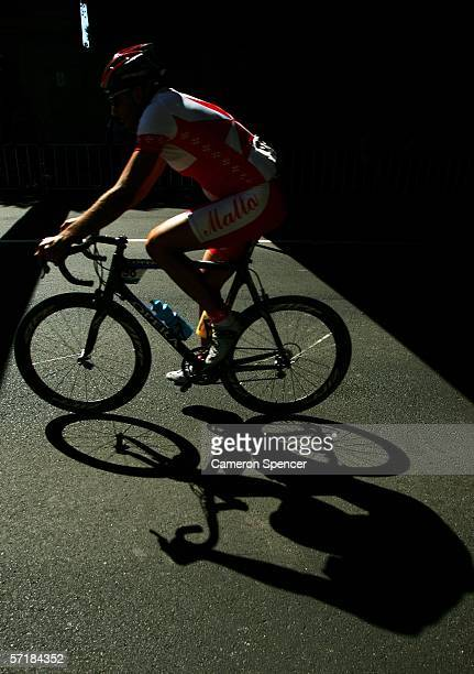 Nicholas Formosa of Malta competes in the Men's Road Race at the Royal Botanic Gardens Circuit during day eleven of the Melbourne 2006 Commonwealth...