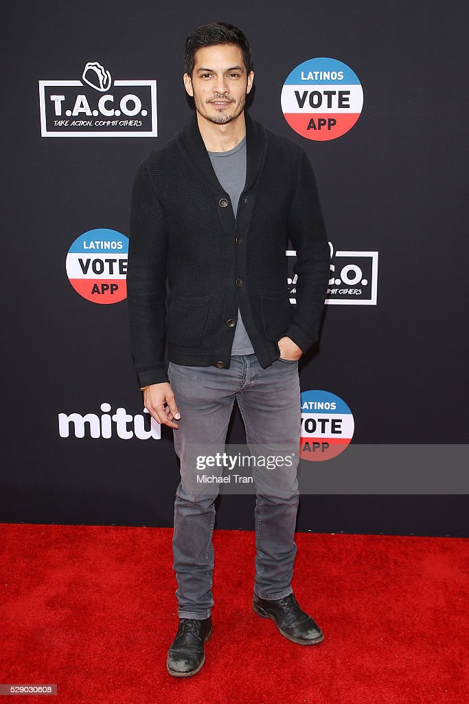 Nicholas Gonzalez arrives at The National T.A.C.O. Challenge held at LA Plaza de Cultura y Artes on May 7, 2016 in Los Angeles, California.