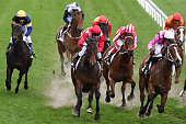 Nicholas Hall riding Iconic defeats Glen Boss riding Angels Beach in Race 8 the 1Print Carlyon Stakes during Melbourne Racing at Moonee Valley...