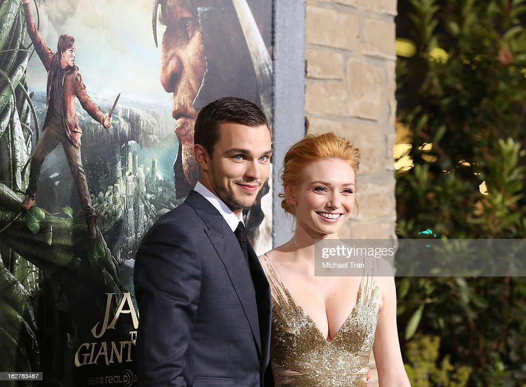 Nicholas Hoult (L) and Eleanor Tomlinson arrive at the Los Angeles premiere of 'Jack The Giant Slayer' held at TCL Chinese Theatre on February 26, 2013 in Hollywood, California.