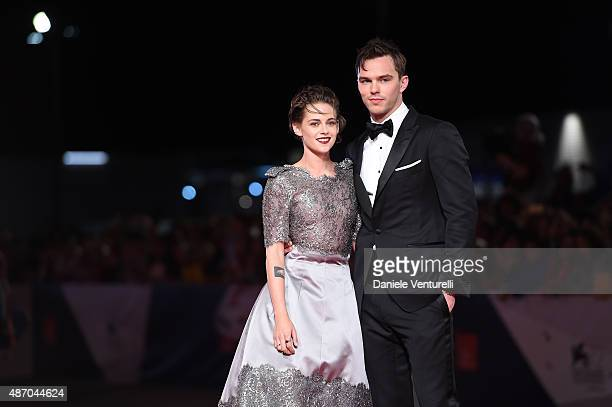 Nicholas Hoult and Kristen Stewart attend the premiere of 'Equals' during the 72nd Venice Film Festival at the Sala Grande on September 5 2015 in...