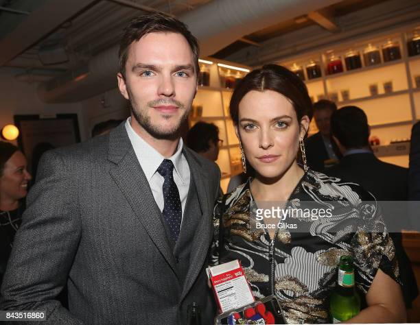 Nicholas Hoult and Riley Keough arrive at the New York premiere of 'Rebel in The Rye' at Metrograph on September 6 2017 in New York City