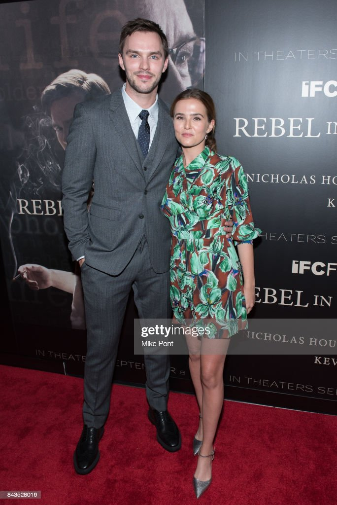 Nicholas Hoult and Zoey Deutch attend the 'Rebel in the Rye' New York Premiere at Metrograph on September 6, 2017 in New York City.