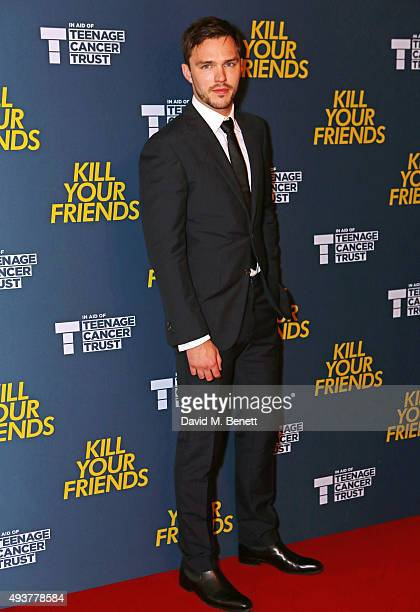 Nicholas Hoult attends the UK Premiere of 'Kill Your Friends' at the Picturehouse Central on October 22 2015 in London England