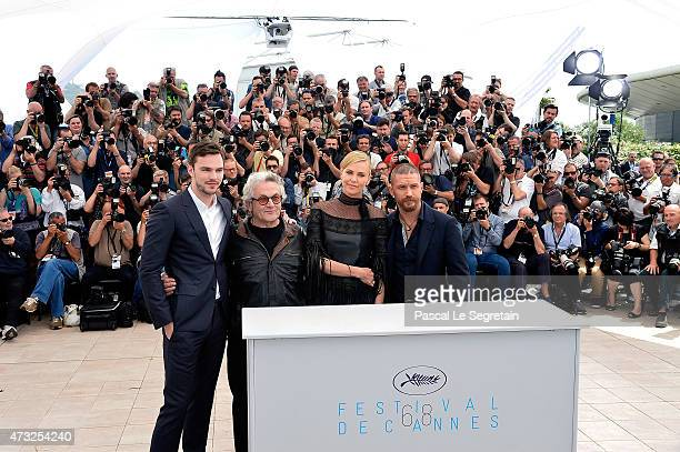 Nicholas Hoult George Miller Charlize Theron and Tom Hardy attend a photocall for 'Mad Max Fury Road' during the 68th annual Cannes Film Festival on...