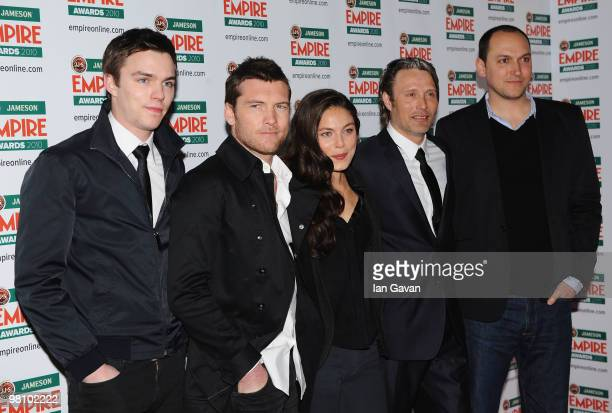 Nicholas Hoult Sam Worthington Alexa Davalos Mads Mikkelsen and Director of Clash of the Titans Louis Leterrier arrive for the Jameson Empire Film...