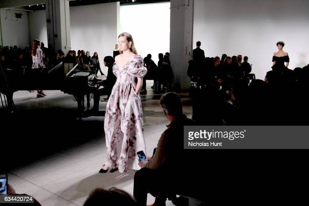 Nicholas Hrynyk performs during the Brock Collection fashion show during New York Fashion Week The Shows at Gallery 3 Skylight Clarkson Sq on...