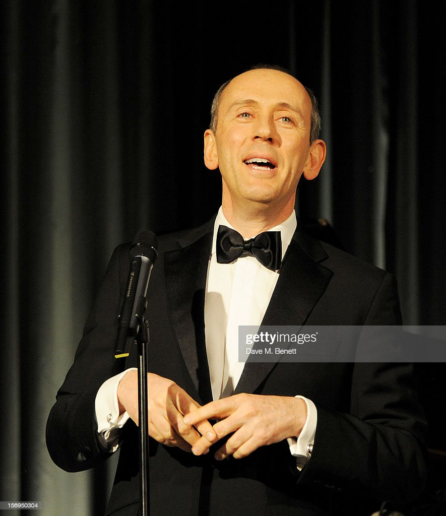 Nicholas Hytner accepts the Lebedev Special Award at the 58th London Evening Standard Theatre Awards in association with Burberry at The Savoy Hotel on November 25, 2012 in London, England.