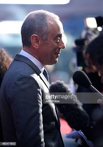 Nicholas Hytner arrives at Odeon Leicester Square for 'The Lady In The Van' Centrepiece Gala on October 13 2015 in London England