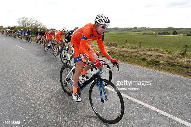 Nicholas Katsonis of Australia makes his way to Gore during stage five of the Tour of Southland on November 6 2015 in Invercargill New Zealand