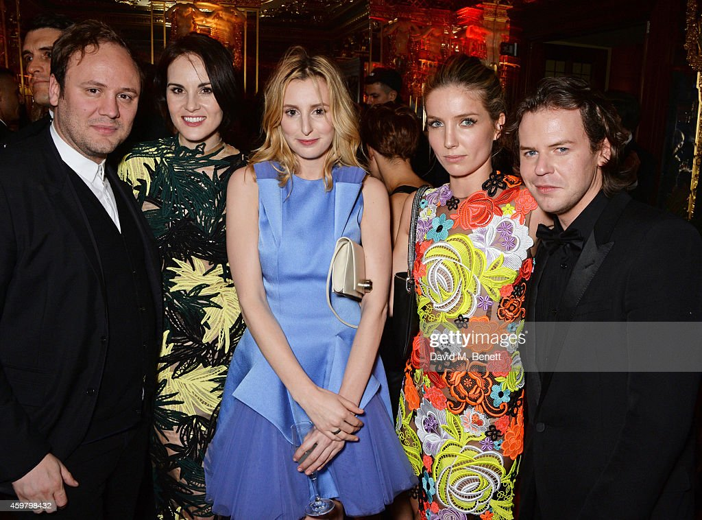 Nicholas Kirkwood Michelle Dockery Laura Carmichael Annabelle Neilson and Christopher Kane attend a party in celebration of Edward Enninful in The...