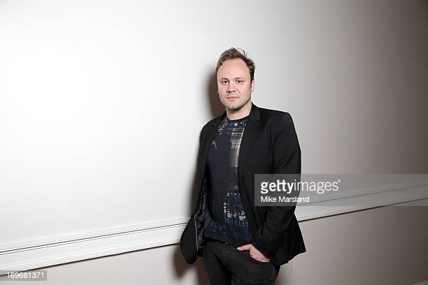 Nicholas Kirkwood poses for Stella/Esquire Portrait Studio at Somerset House on May 29 2013 in London England
