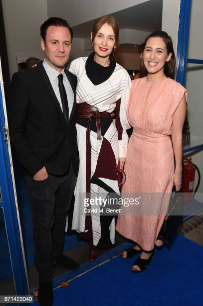 Nicholas Kirkwood Roksanda Illincic and Emilia Wickstead attends a dinner hosted by Jonathan Newhouse and Albert Read for Edward Enninful to...