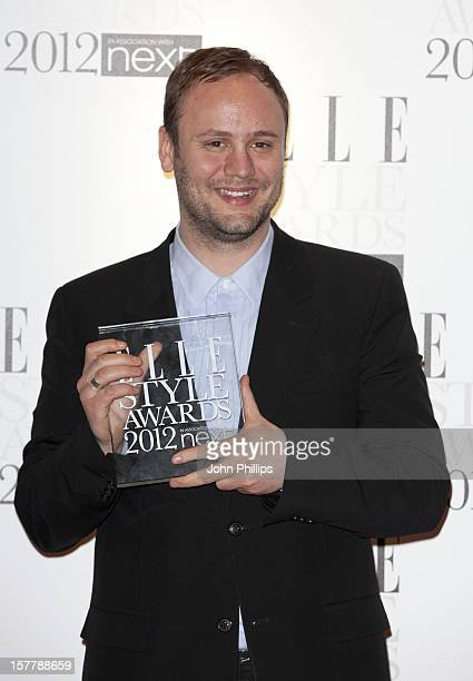 Nicholas Kirkwood With His Award For Accessory Designer Of The Year At The 2012 Elle Style Awards At The Savoy Hotel In Central London