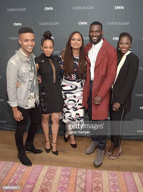 Nicholas L Ashe DawnLyen Gardner Ava DuVernay Kofi Siriboe and Rutina Wesley attend OWN's private New York screening of 'Queen Sugar' at Crosby...