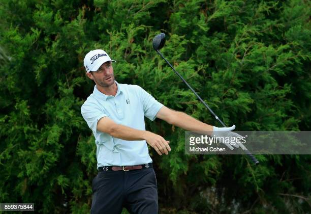 Nicholas Lindheim reacts to his drive during the third round of the Webcom Tour Championship held at Atlantic Beach Country Club on September 30 2017...