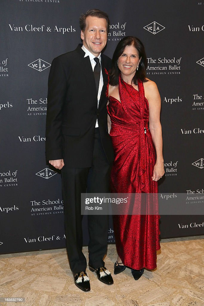 Nicholas Luchsinger of Van Cleef and Arpels (L) and Marjorie Van Dercook attend the School of American Ballet 2013 Winter Ball at David H. Koch Theater, Lincoln Center on March 11, 2013 in New York City.