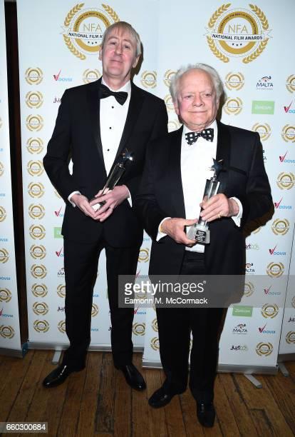 Nicholas Lyndhurst and David Jason attend the National Film Awards on March 29 2017 in London United Kingdom
