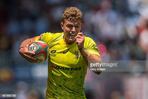 Nicholas Malouf of Australia in action during the Australia vs Scotland match as part of the Hong Kong Sevens the sixth round of the HSBC Sevens...