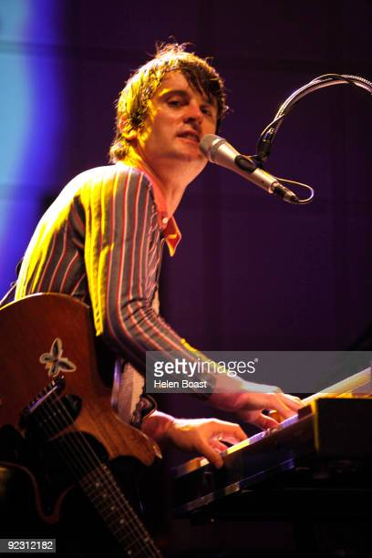 Nicholas McCarthy of Franz Ferdinand performs on stage at Brixton Academy on October 23 2009 in London England