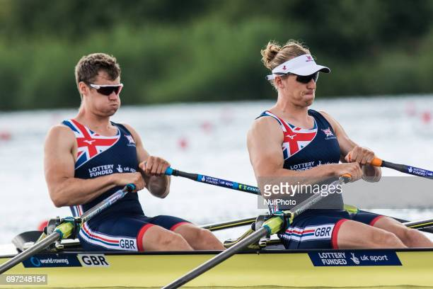Nicholas Middleton Frazier Christie M2x during the first day of the 2017 World Rowing World Cup in Poznan Poland on 16 June 2017