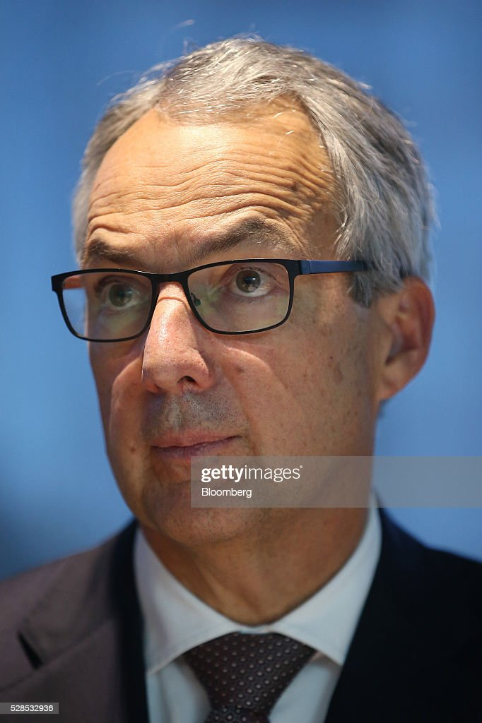 Nicholas Moore, chief executive officer and managing director of Macquarie Group Ltd., listens during a news conference in Sydney, Australia, on Friday, May 6, 2016. Macquarie said full-year profit climbed 29 percent to a record as it flagged lower performance fees from its funds-management unit and signaled that subdued markets may weigh on current-year earnings. Photographer: Brendon Thorne/Bloomberg via Getty Images
