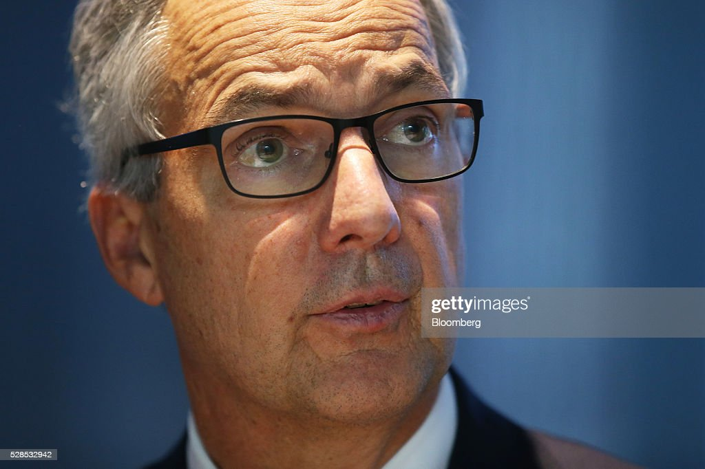 Nicholas Moore, chief executive officer and managing director of Macquarie Group Ltd., speaks during a news conference in Sydney, Australia, on Friday, May 6, 2016. Macquarie said full-year profit climbed 29 percent to a record as it flagged lower performance fees from its funds-management unit and signaled that subdued markets may weigh on current-year earnings. Photographer: Brendon Thorne/Bloomberg via Getty Images