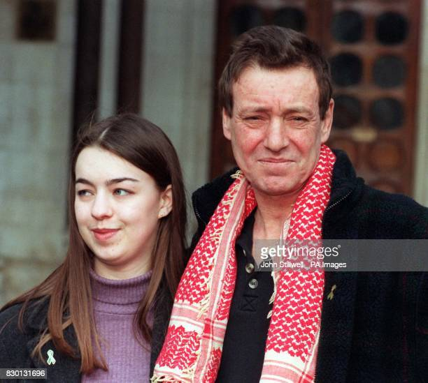 Nicholas Mullen the last Republican prisoner being held in a British jail with his daughter Jessica as he leaves the Court of Appeal in London after...