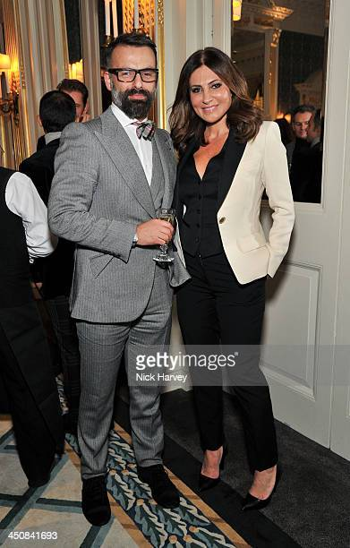 Nicholas Oakwell and Ella Krasner attend a champagne reception and book signing event for the launch of 'Baccarat Two Hundred And Fifty Years' by...