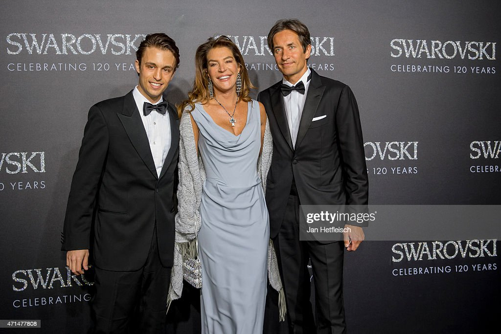 Nicholas Pacifico Fiona PacificoGrasser and KarlHeinz Grasser pose for a picture on the 'black' carpet of the grand reopening of the Swarovski...