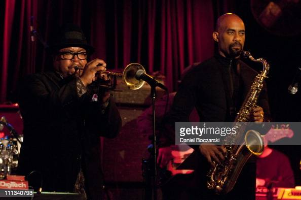 Nicholas Payton and Gary Thomas perform during the Bitches Brew 40th Anniversary Band event during the 2011 Miles Davis Festival at Martyr's on March...