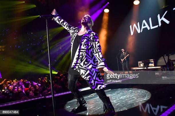 Nicholas Petricca of Walk the Moon performs at the KROQ Almost Acoustic Christmas 2017 Night 1 on December 10 2017 at the Forum in Los Angeles CA