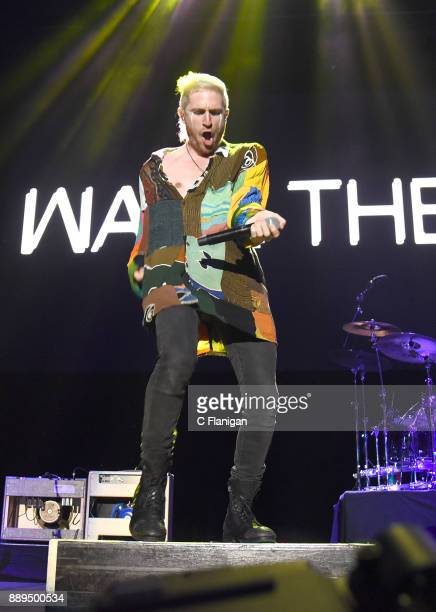 Nicholas Petricca of Walk the Moon performs during Live 105's 2017 Not So Silent Night at ORACLE Arena on December 9 2017 in Oakland California