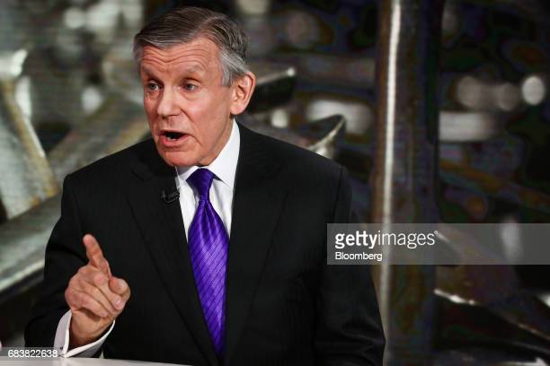 Nicholas Pinchuk chairman and chief executive officer of SnapOn Inc speaks during a Bloomberg Television interview in New York US on Tuesday May 16...